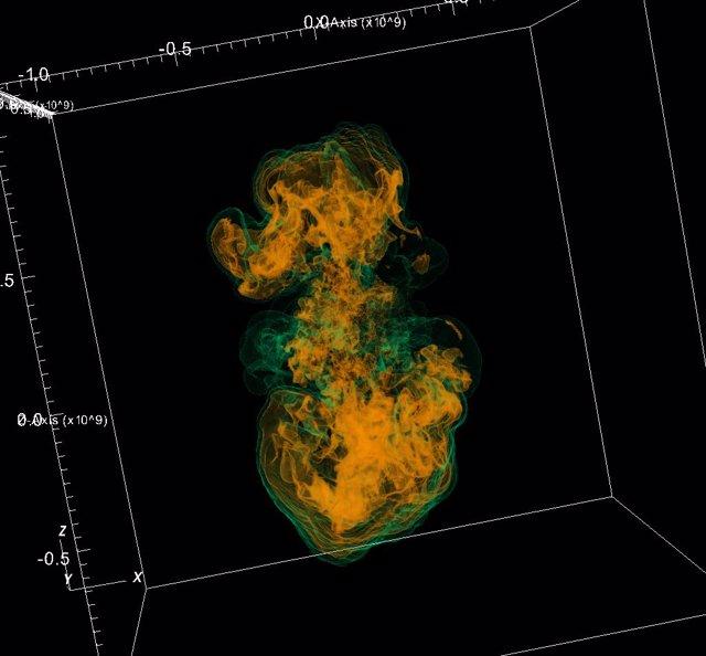 Supercomputadoras amplían expectativas sobre estrellas masivas explosivas