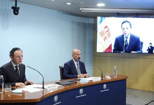 El cap de Govern, Xavier Espot, i el ministre de Salut, Joan Martínez Benazet.