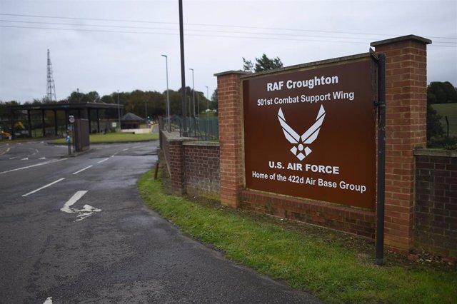Base de la RAF en Croughton, Northamptonshire, cerca de donde fue atropellado mortalmente Harry Dunn por la estadounidense Anne Sacoolas