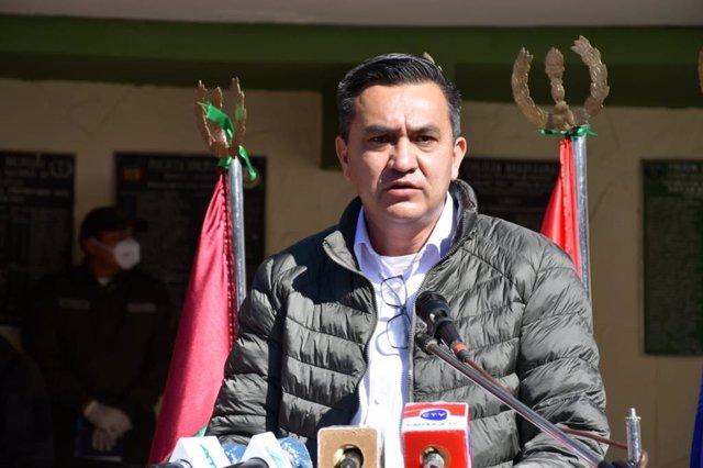 El ministro de la Presidencia de Bolivia, Yerko Núñez