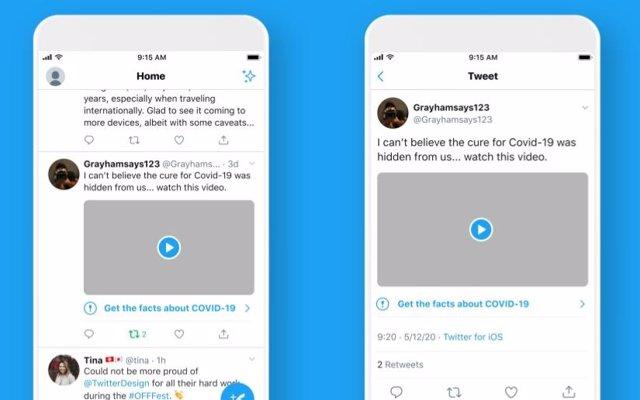 Twitter etiquetará las publicaciones dañinas sobre la Covid-19, como ya hace con