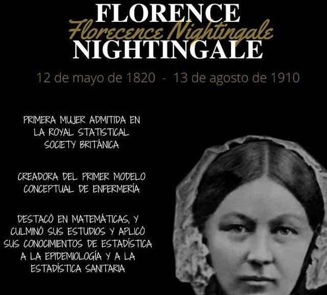 Cartel conmemorativo del nacimiento de Nightingale.