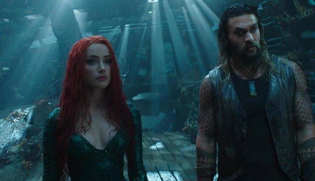 Amber Heard y Jason Momoa en Aquaman