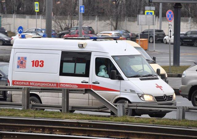 Imatge d'arxiu d'una ambulància a Moscou