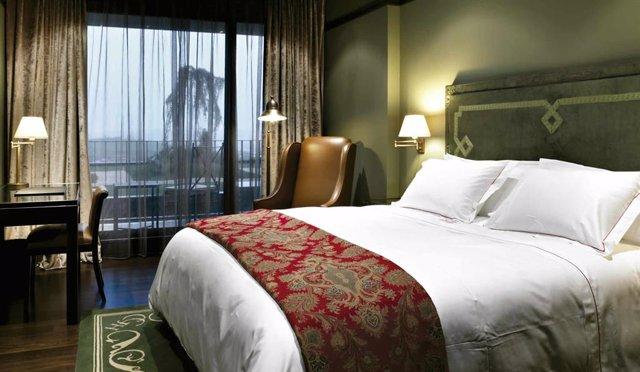 Una habitación de hotel de Pamplona