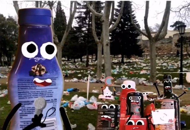 'Reportaciclaje', Vídeo Ganador Del XI Festival De Clipmetrajes De Manos Unidas, Realizado Por Los Alumnos De 6ºC De La Fundación Caldeiro De Madrid