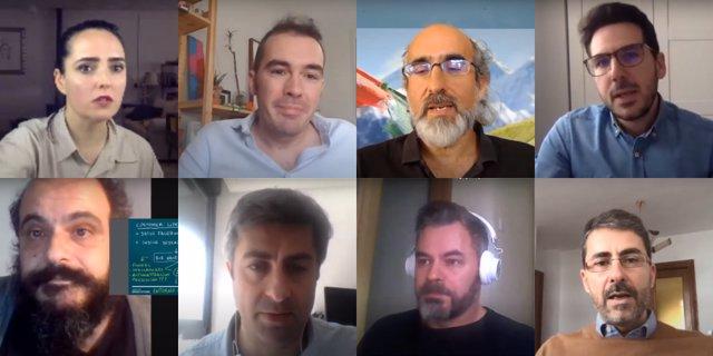 Imagen de archivo de una videoconferencia de los mentores de Andalucía Open Future con las startups participantes del programa.