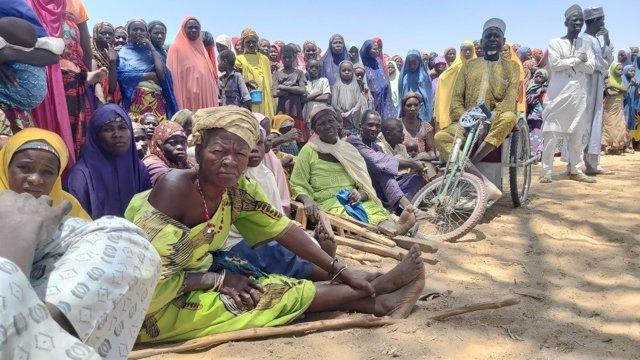 Refugiados de Nigeria llegados a la región nigerina de Marabi
