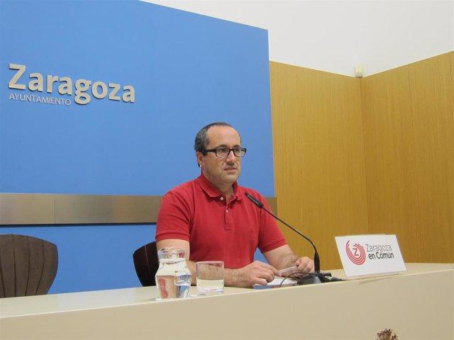 El concejal de ZeC, Alberto Cubero