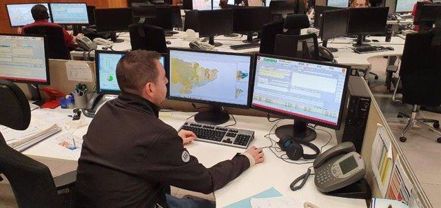 Trabajadores del teléfono de emergencias 112 en Catalunya