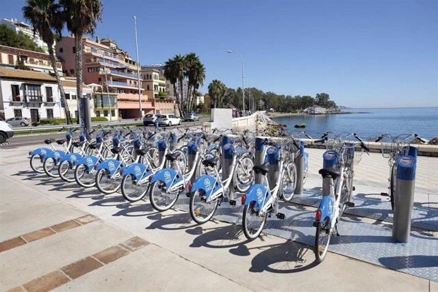 Bicis, estación, málaga, bicicleta, bici