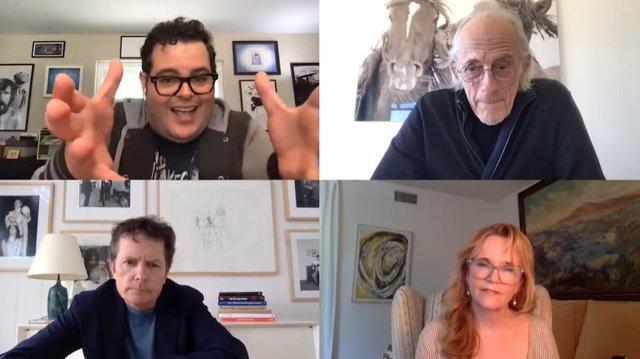 Reunión virtual de los protagonistas de Regreso al futuro