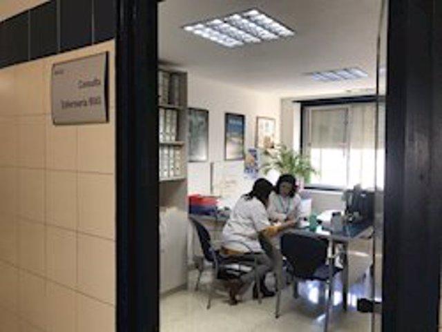 Imagen de un archivo de una consulta de enfermería en un hospital andaluz.