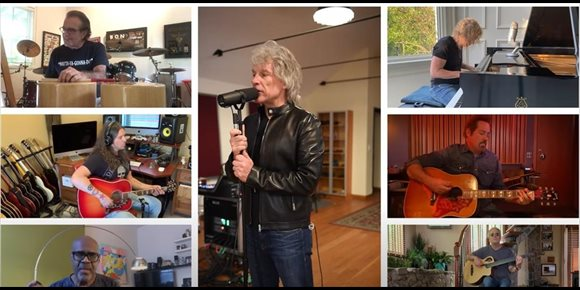 10. Bon Jovi hacen una versión acústica de 'It's my life' en confinamiento