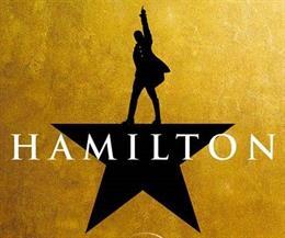 Cartel del musical Hamilton, que se estrenará en Disney+