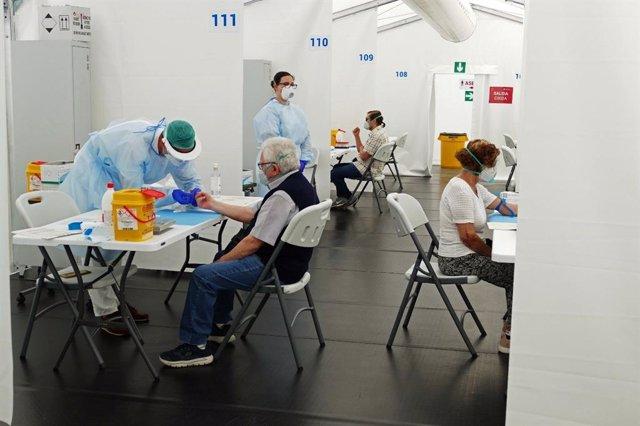 Test de seroprevalencia en el hospital de campaña de Alicante