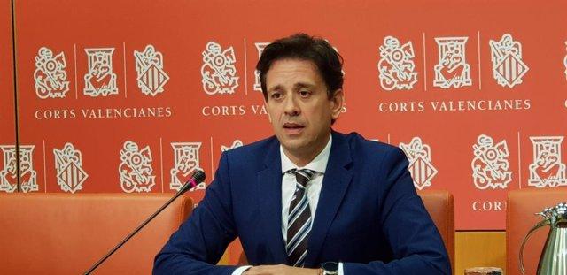 El portavoz de Sanidad del Grupo Parlamentario Popular en Les Corts, José Juan Zaplana, en imagen de archivo
