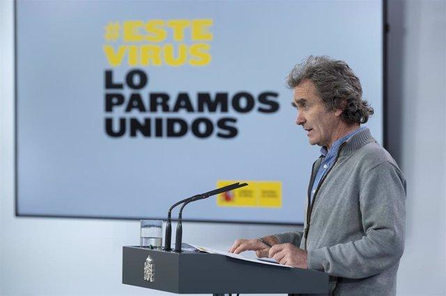 El director del Centro de Coordinación de Emergencias del Ministerio de Sanidad, Fernando Simón, comparece en rueda de prensa en Madrid (España), a 12 de mayo de 2020.