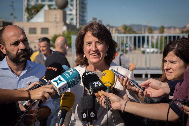 La presidenta de l'Assemblea Nacional Catalana (ANC), Elisenda Paluzie, a Barcelona (Espanya), a 25 d'octubre de 2019. (ARXIU)