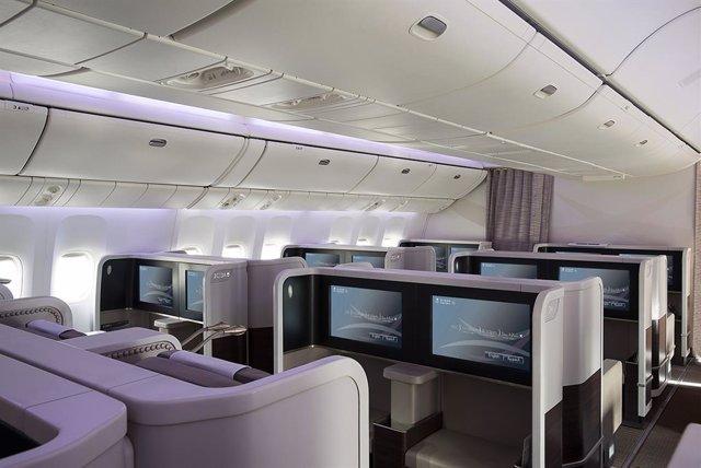Interior de Boeing 777-200 de Saudia Airlines