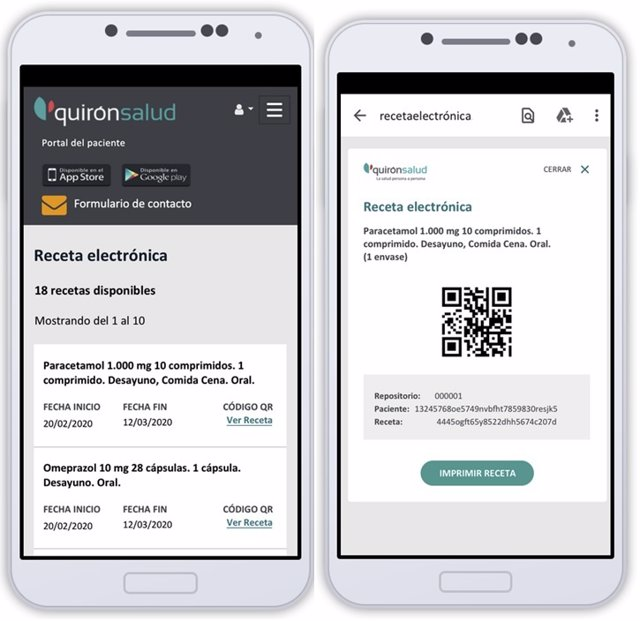 Receta electrónica privada de Quirónsalud