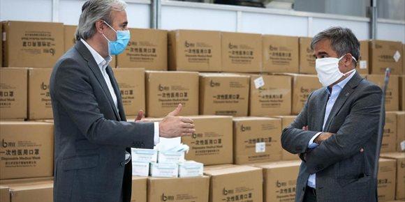 3. El Grupo Saica dona 700.000 mascarillas a la ciudad de Zaragoza, que repartirá la mitad a mayores de 65 años