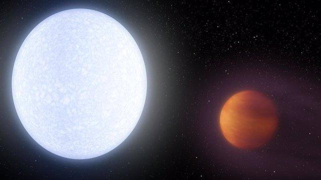 Primera detección directa de hierro en una atmósfera exoplanetaria