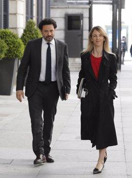 La portavoz del PP, Cayetana Álvarez de Toledo, a su llegada a la sesión de Control al Ejecutivo este miércoles en el Congreso, en Madrid (España), a 13 de mayo de 2020.