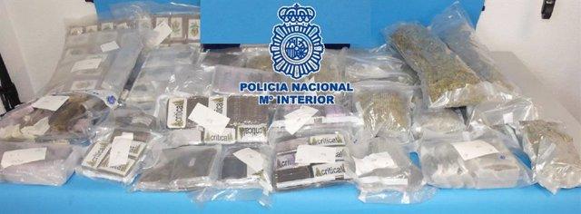 Operación antidroga de la Policía Nacional en Málaga