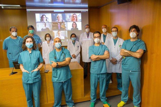 Equipo investigador del ensayo clínico de la Clínica Universidad de Navarra sobre el uso de la ivermectina