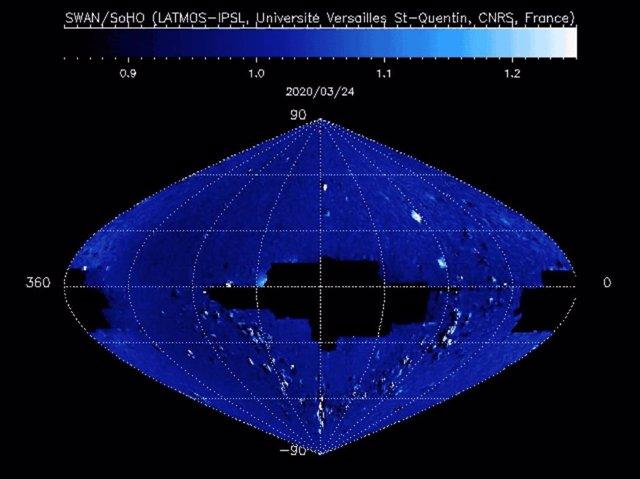 El observatorio solar SOHO capta el nuevo cometa SWAN