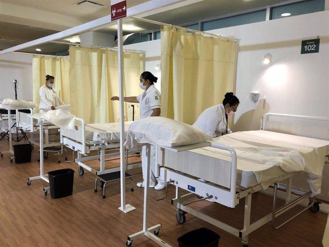 Personal sanitario en un hospital de Ciudad de México durante la pandemia de coronavirus