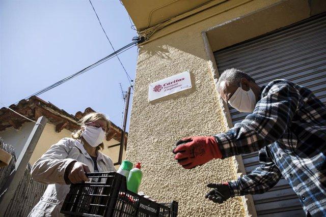 Cáritas de Barcelona ha atès al doble de famílies a l'abril que l'any passat