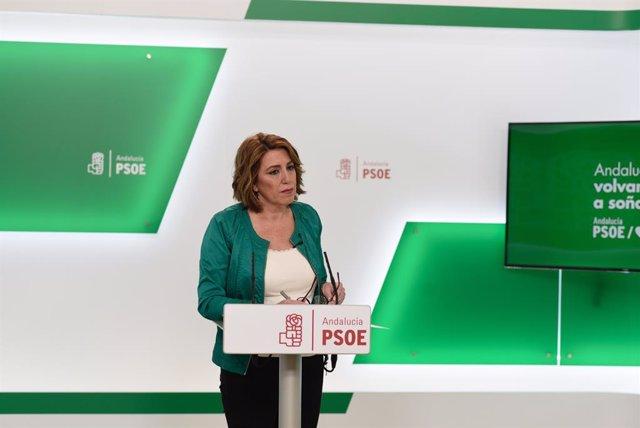 """Coronavirus.- Susana Díaz lamenta declaraciones a """"lo Trump y Bolsonaro"""" de Casa"""