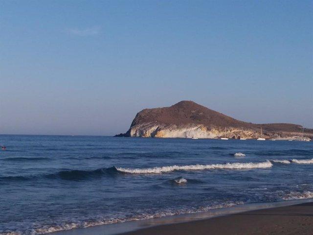 Imagen de la playa de Genoveses, en el parque natural de Cabo de Gata
