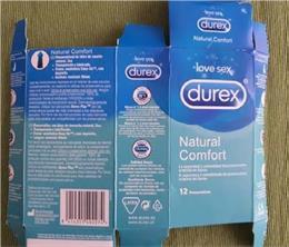Lote falsificado de preservativos Durex
