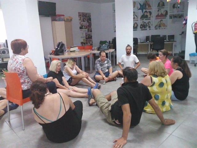 Imagen de archivo de una actividad en un centro de la Federación Andaluza de Familiares y Personas con Problemas de Salud Mental (Feafes Andalucía).