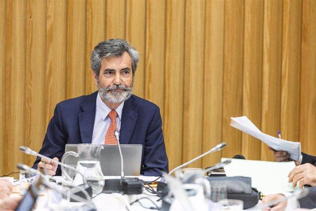 El presidente del Consejo General del Poder Judicial y del Tribunal Supremo (CGPJ), Carlos Lesmes.