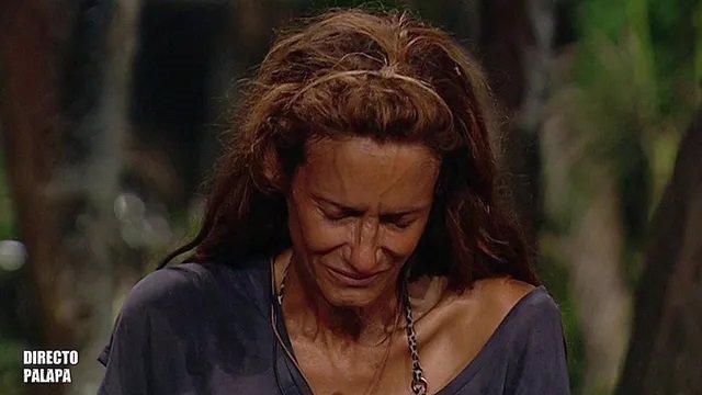 Elena, la madre de Adara, se rompe en la Palapa