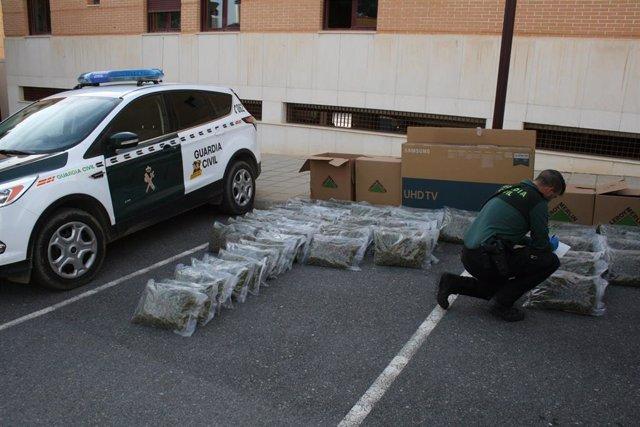 Cargamento de marihuana intervenido en la A-92