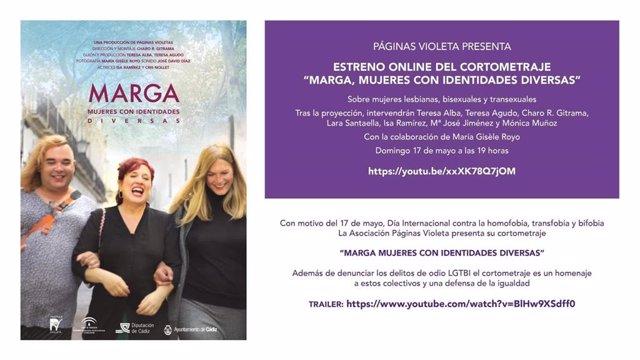 Imagen del estreno online del corto 'Marga, mujeres con identidades diversas', subvencionado por la Diputación