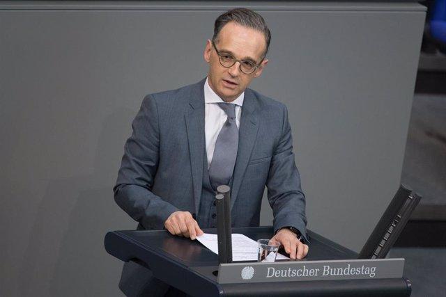 Heiko Maas, ministro de Exteriores de Alemania, comparece en el Bundestag