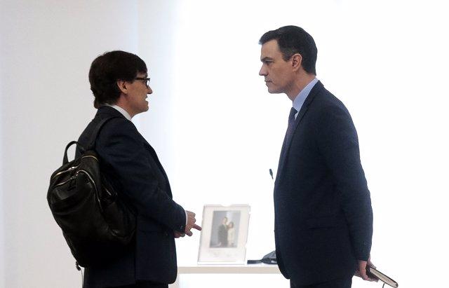 Salvador Illa y Pedro Sánchez