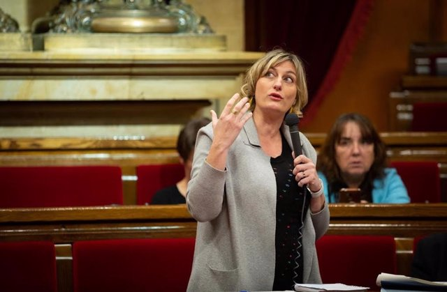 Intervención de la consellera de Salud, Alba Vergés, en el Parlament en una foto de archivo.