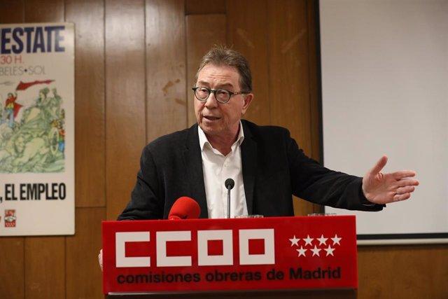 Imagen de recurso del secretario general de CCOO Madrid, Jaime Cedrún.