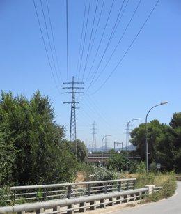 Un tramo de la red eléctrica ya soterrada