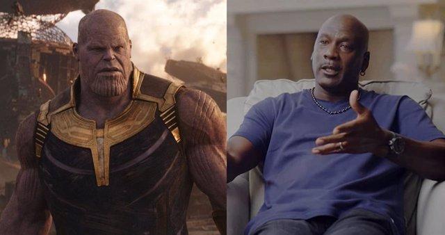 Michael Jordan se convierte en Thanos para celebrar el final de El último baile