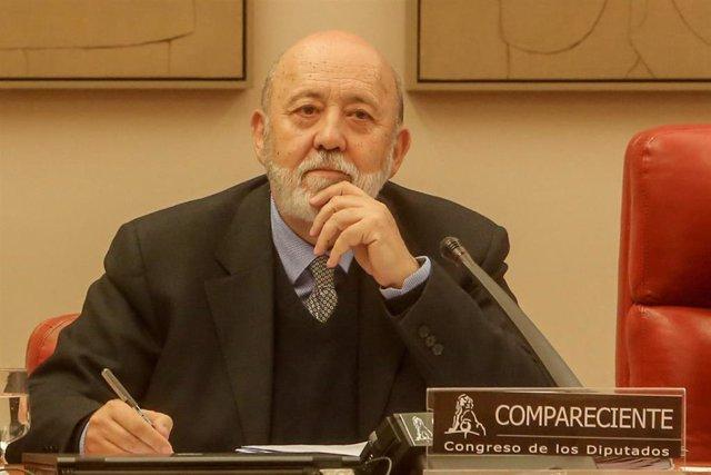 El presidente del Centro de Investigaciones Sociológicas (CIS) , José Félix Tezanos, en el Congreso