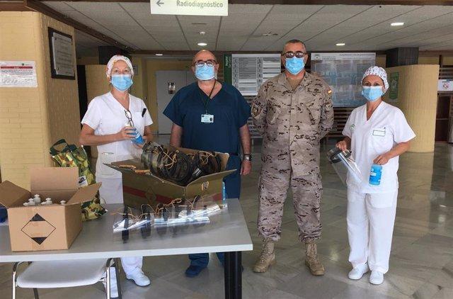 Entrega de materia del Tercio de Armada al Hospital San Carlos en San Fernando