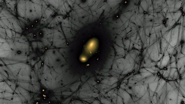 Galaxias 'grupi' pérdidas pueden confirmar el modelo de materia oscura